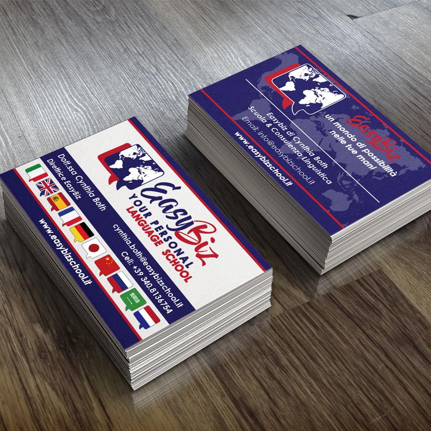 Realizzazione grafica stampa biglietti da visita Magnago Legnano Busto